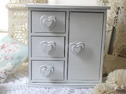 shabby chic white drawer u0026 door jewellery box
