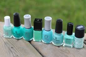 funny face beauty my favourite u0027blue green u0027 nail polishes