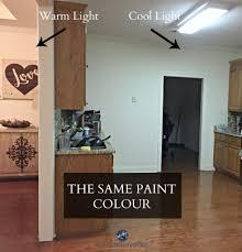 how fluorescent light affects paint colour