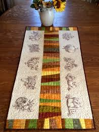 Designs For Runners Advanced Embroidery Designs Autumn Themed Quilted Table Runner