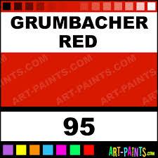 grumbacher red academy oil paints 95 grumbacher red paint