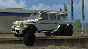 mercedes 6 x 6 mercedes g 65 amg 6x6 v 1 0 for fs 2015 farming simulator