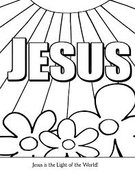 jesus light coloring hope material