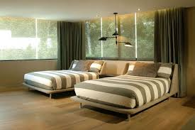 interior tranquil guest room idea with wooden bedroom set and