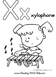 alphabet coloring pages x is for xylophone teaching tots