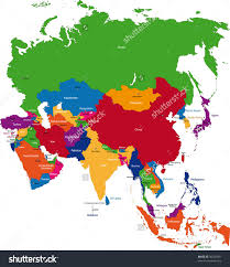 Map Of China With Cities by Map Of South At Of Asia With Capitals Roundtripticket Me