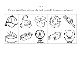 free short vowel medial worksheet cut and paste 2 pages