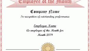 sample employee of the month certificate employee of the year certificate template excel xlts