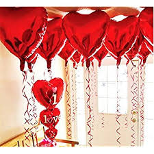 valentines ballons 18 inch hearts shaped foil balloons valentines day