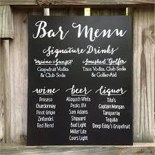 wedding drink menu template 27 images of bar menu sign template infovia net