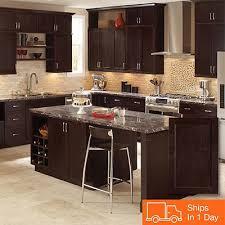 home depot kitchen cabinet gallery shop hton bay shaker java cabinets cheap kitchen