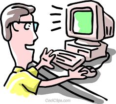 clipart uomo uomo lavora al computer immagini grafiche vettoriali clipart
