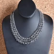 natural quartz necklace images Handwoven faceted natural quartz necklace lisa robertson jpg