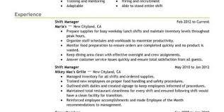 Cashier Resume Experience Fast Food Cashier Resume Cvletter Billybullock Us