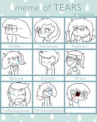 Tears Meme - meme of tears by vickydahalia on deviantart