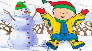 cartoon caillou u0027s christmas snowman and santa full episode