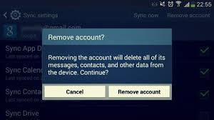 android remove account how to remove a gmail account on your galaxy s4