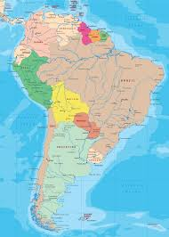 South America Map With Capitals by America Political Map