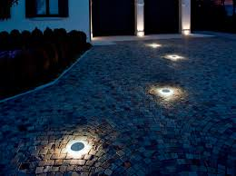Outdoor Driveway Lighting Fixtures Recessed Driveway Lights Image Outdoor White Pillar Pavement