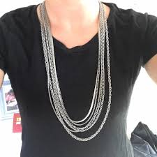 pendant necklace long chain images Long chain necklace poshmark jpg