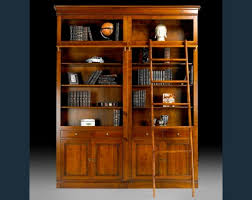Rolling Bookcases French Library Bookcase With Rolling Ladder Books Pinterest