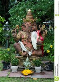 lord ganesha statue in the garden stock image image 21222129