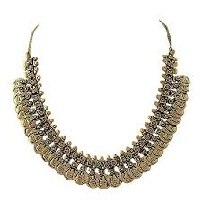 girls gold necklace images Buy sansar india oxidized ancient gold plated coins traditional jpg