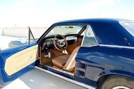Saddle Interior Expired 1967 Mustang Coupe Dark Blue Saddle Interior Original