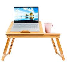 Folding Desk Bed Bamboo Portable Folding Laptop Computer Notebook Table Bed Desk