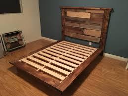Diy Bed Frame Ideas Reclaimed Wood Bed Frame Plans Ktactical Decoration
