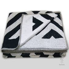 large striped white and navy beach towel 180 x 200 bestgift