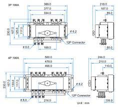 transfer switch mccb type 100 amp