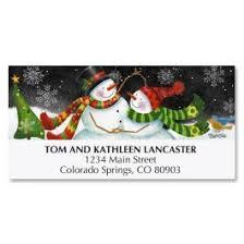 snow couple standard christmas card current catalog