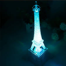 new fashion transparent acrylic eiffel tower night light
