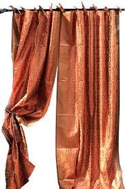 Sari Curtain Indian Sari Kela Fabric Copper Decorative Drapes U0026 Window