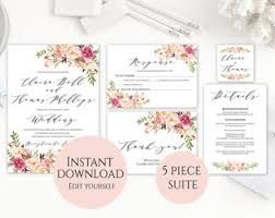 Wedding Template Invitation Wedding Invitation Template Invitation Suite Template