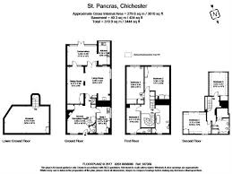 St Pancras Floor Plan 5 Bedroom Terraced House For Sale In Chichester For Guide Price