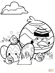 angry birds easter tournament coloring page free printable