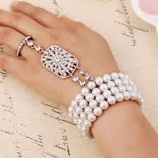 pearl bracelet elastic images The great gatsby elastic simulated pearl wedding bella bracelets jpg