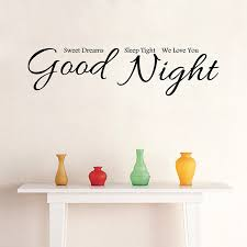 aliexpress buy good night removable vinyl wall stickers
