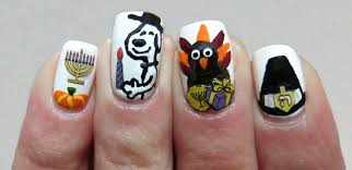 thanksgiving turkey nail art the official manicure of thanksgivukkah midrash manicures