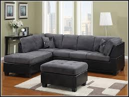 Sectional Microfiber Sofa Fancy Black Microfiber Sectional Sofa With Black Sectional