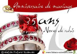 carte virtuelle anniversaire de mariage noces de rubis 35 ans carte virtuelle