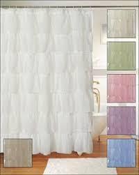 Dorm Bathroom Ideas Colors Veratex Vintage Ruffle Shower Curtain Bathroom Pinterest