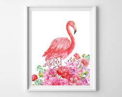 flamingo nursery etsy