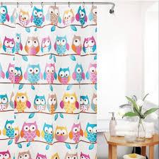 Curtain Cartoon by Cartoon Owl Shower Curtain Lazada Ph