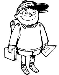dessins de rentrée scolaire à colorier