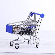 sparkles mini shopping cart trolley for desktop decoration orname