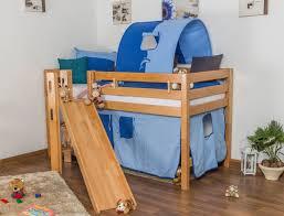 Midsleeper  Highsleeper  Childrens Bed Samuel Solid Beech Wood - Mid sleeper bunk bed