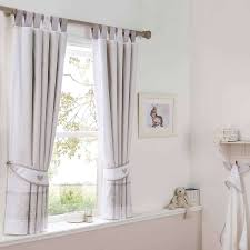 White And Grey Nursery Curtains Dorma White Bunny Meadow Lined Pencil Pleat Curtains Dunelm